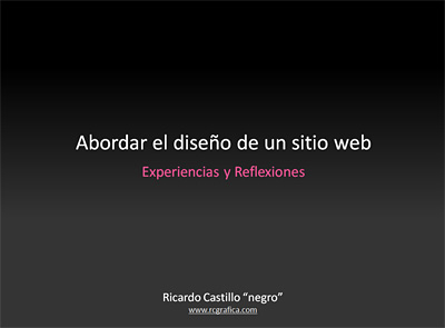 Abordar un diseño web